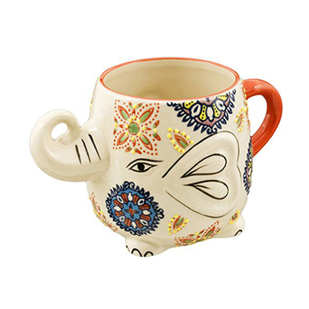 Hand Painted Elephant Coffee Tea Mug Cups Buy Ceramic Elephant