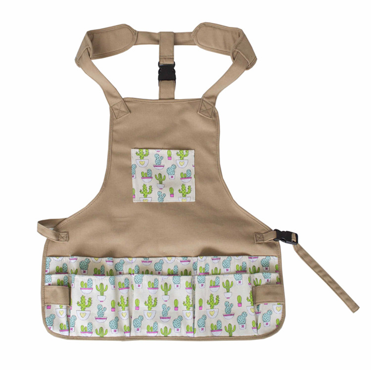 Multi-functional Canvas Garden Waist Tool Apron with Many Pockets