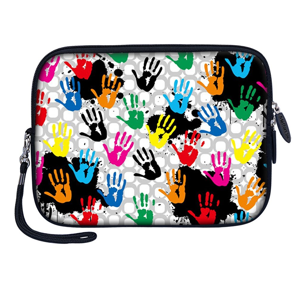 """Meffort Inc 7 inch Tablet Carrying Case Sleeve Bag w Removable Handle for most 6"""" 7"""" 8"""" Tablet eBook - Hand Painting"""