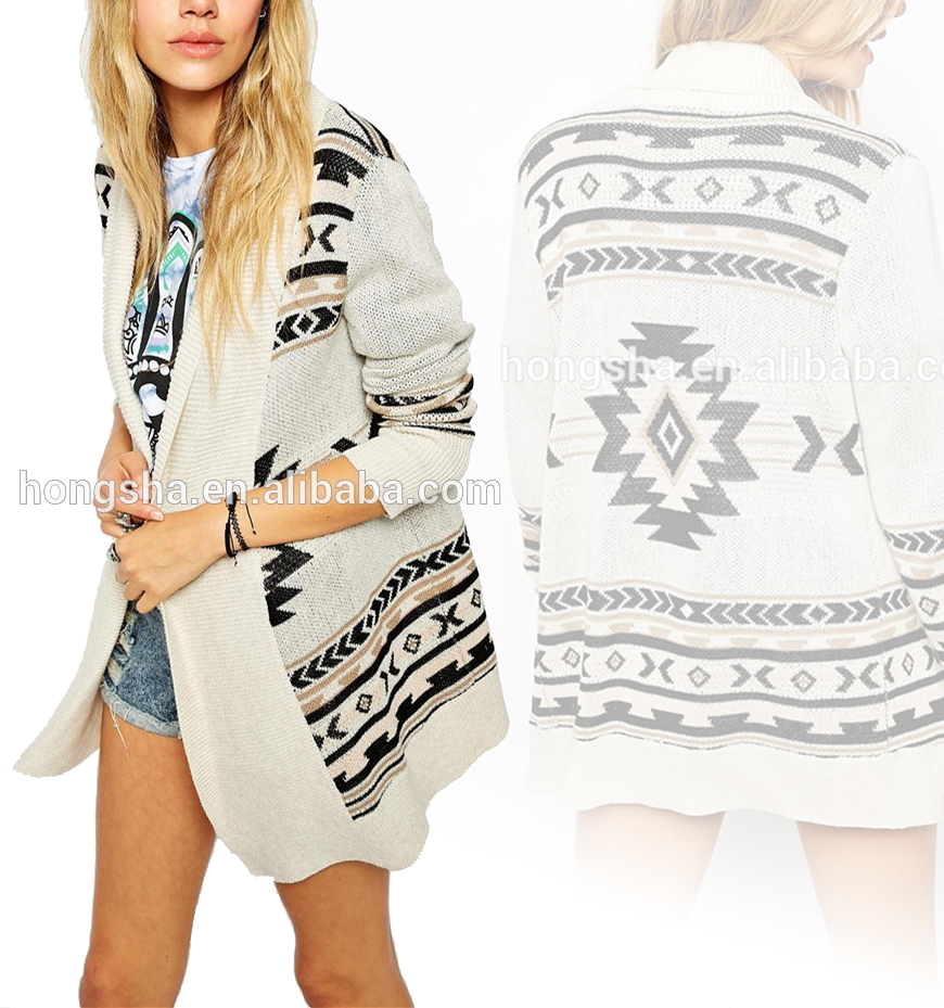 Sweater cardigan women open front geo tribal patterns knitted sweater cardigan women open front geo tribal patterns knitted aztec cardigan hss6027 buy sweater cardiganknitted cardiganaztec cardigan product on bankloansurffo Choice Image