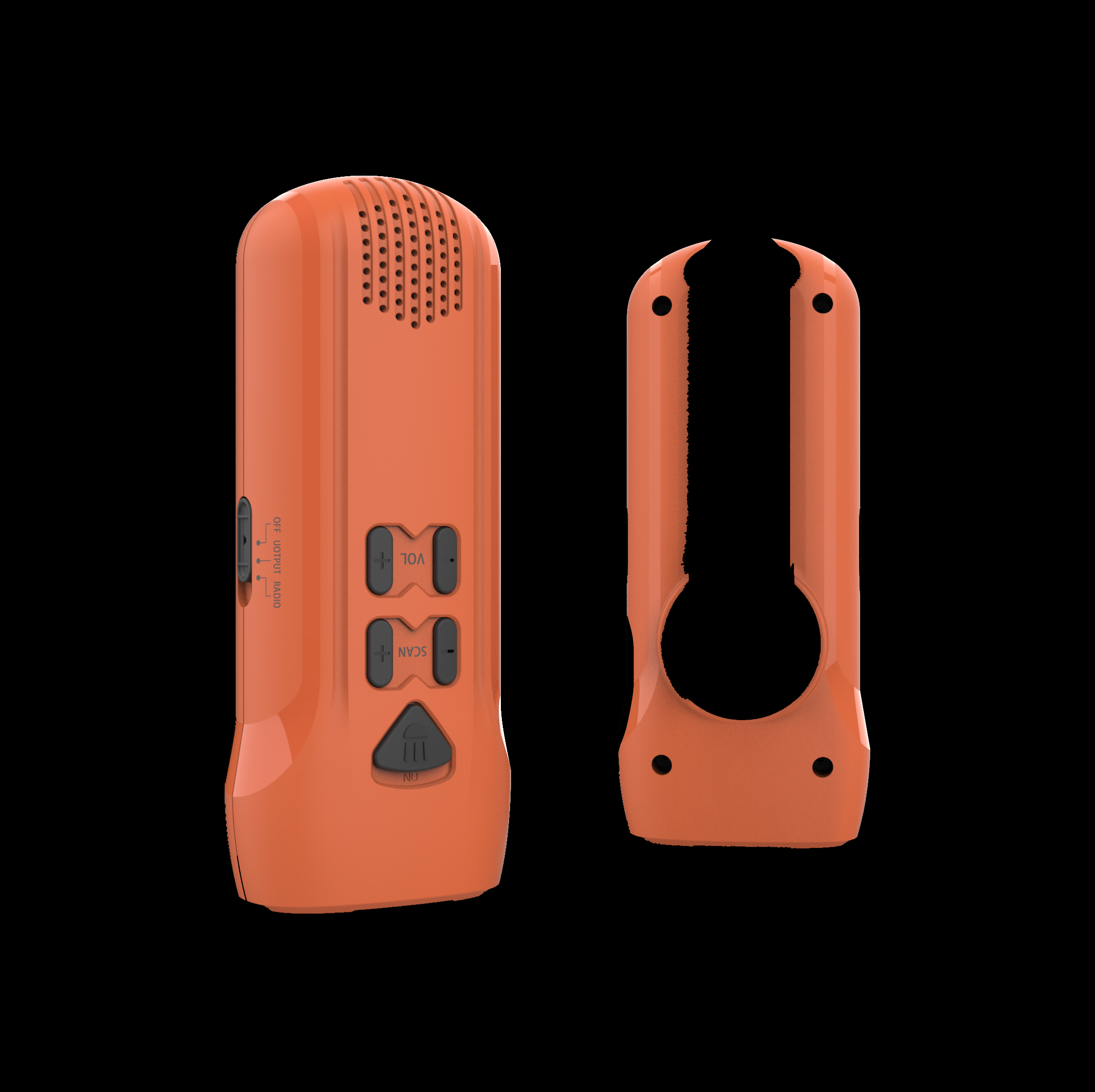 Rechargeable Emergency flashlight FM radio no AM radio pocket radio torch light