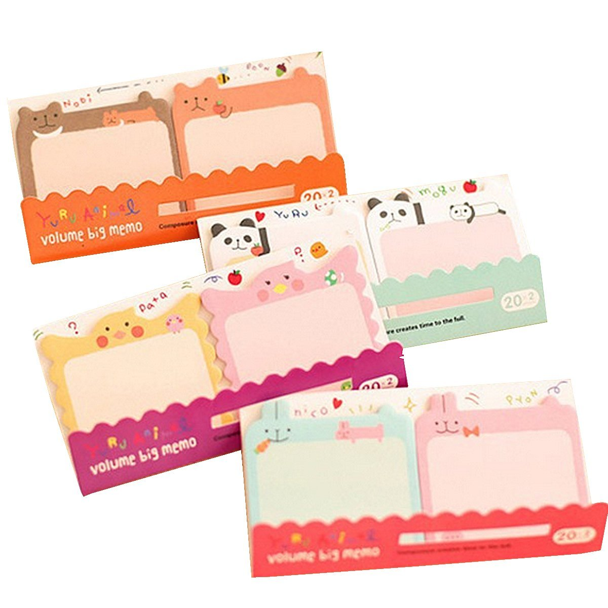 Mily Lovely Cute Fruit Shape Sticky Note Self-stick Note Pack of 10