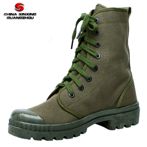 Green color Combat Canvas Boots Tactical men Canvas boots for out door duty