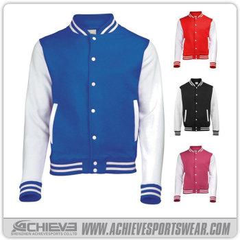 custom cheap fleece jacket/ womens varsity jacket wholesale