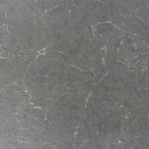 Engineering quartz countertops made of stone grey rock crystal slab