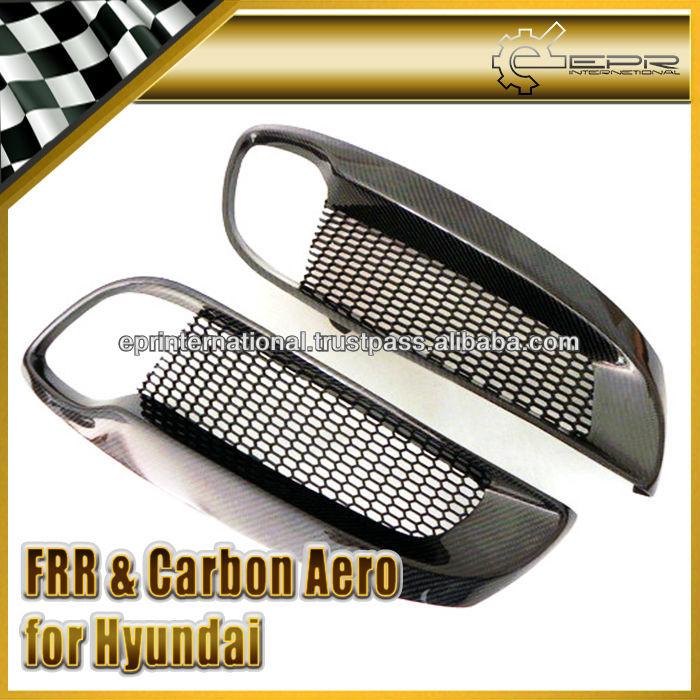 For Hyundai Genesis Coupe 09 Carbon Fiber Fog Light Cover
