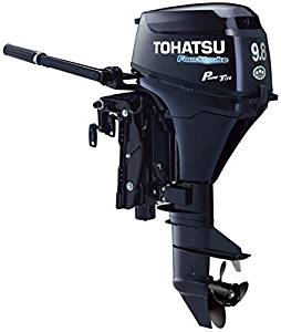 "2017 Tohatsu 9.8Hp Electric Start 4-S Outboard Motor Tiller 25"" Shaft Power Trim"