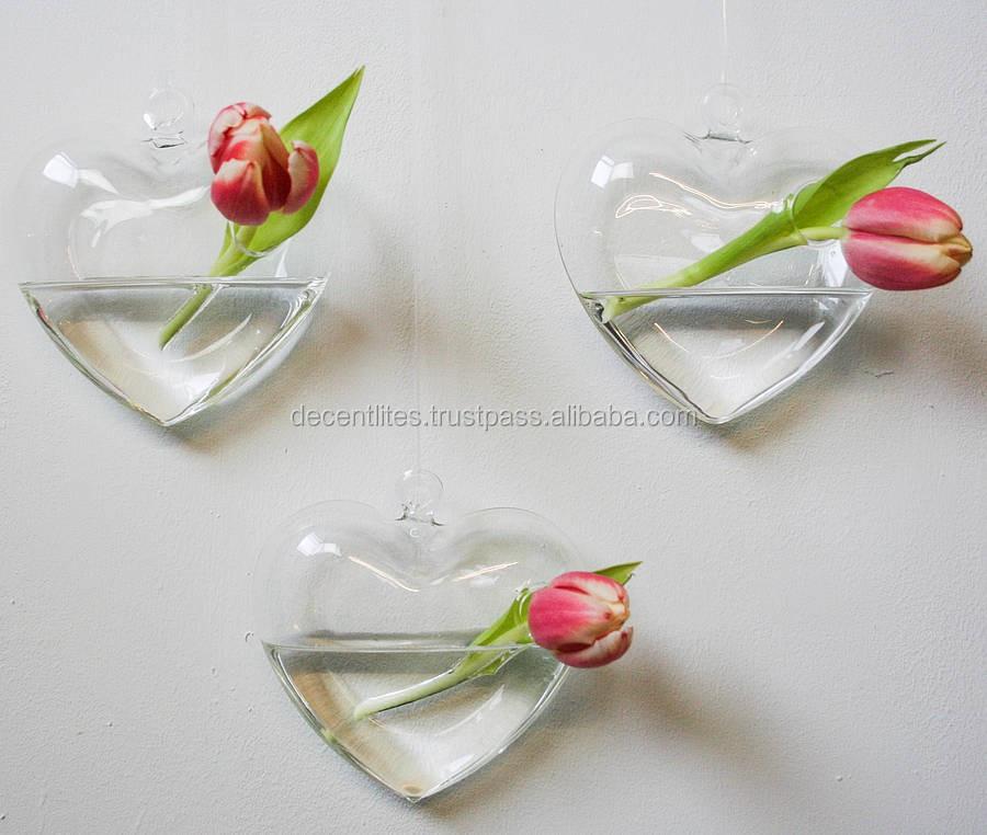 hanging flower vase silver vase clear vase flower pot mosaic vase