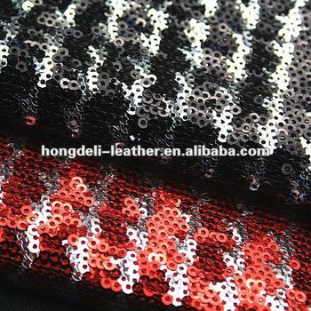 black sequin fabric glitter fabric for shoe bag shoe material