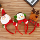 Cute Christmas Headbands Santa Claus Antlers Snowman Christmas Headwear for Women Girls Xmas Noel Party Decoration