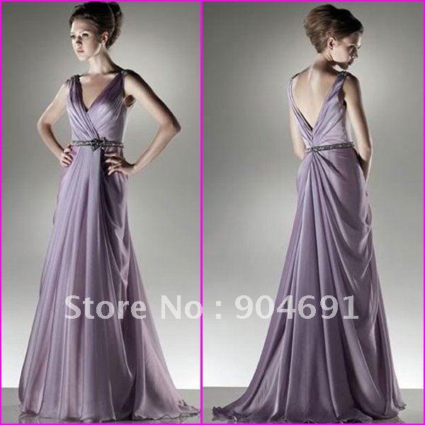 Evening Gowns For Wedding Reception: Strapless Purple Blue Green Chiffon Empire Waist Maternity