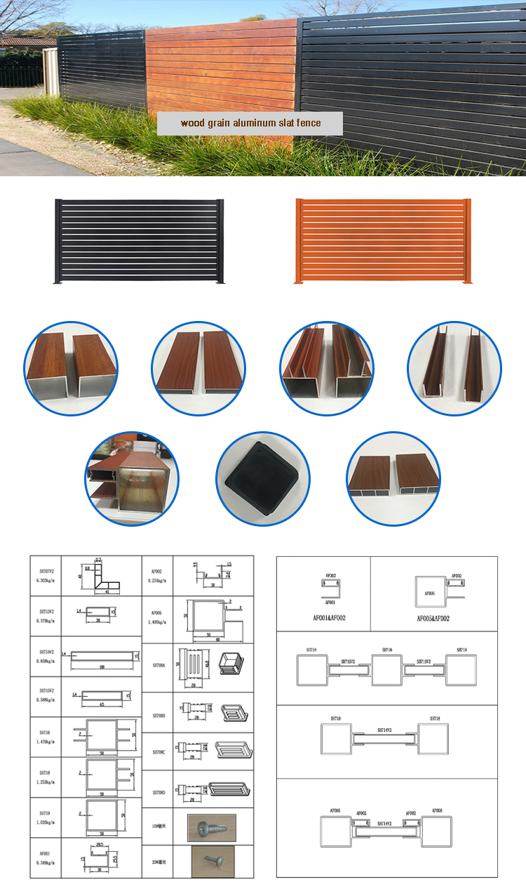 Decorate shutter aluminum louver slat fence for balcony
