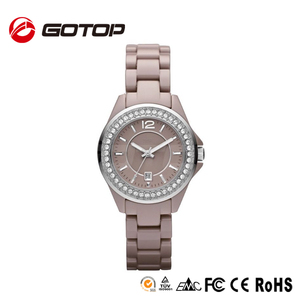 2014 China Wholesale Elegance Waterproof Swiss Quartz Diamond Alloy lady automatic watch