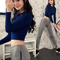 Fall Women Yoga 2 Pieces Sets Breathable Fitness Sports Full Sleeve Suit Running Workout Clothes Tops