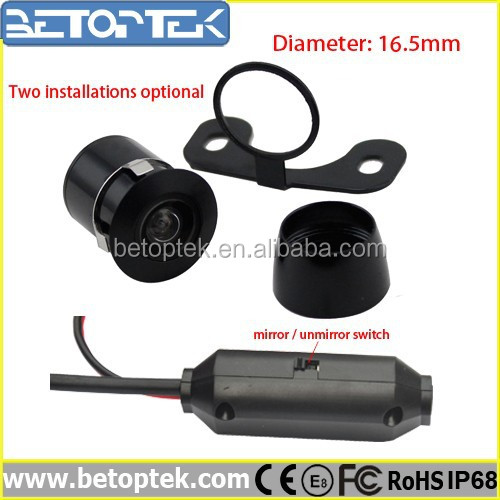 18.5MM Mini Mirror/normal Image Switched Car Camera