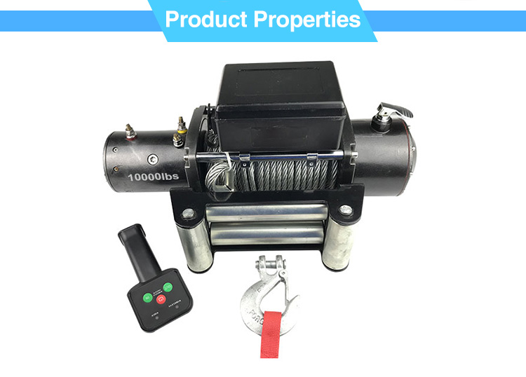 LULU Brand Good Quality Rope Winch 3000Lb Small Trailer Boat Winch 12V
