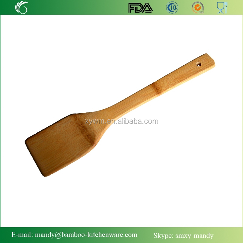Bamboo Kitchen Utensil, Square Bamboo Spatula, Bamboo Cooking Tool