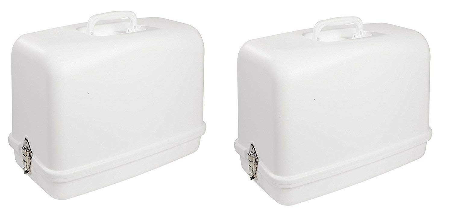 singer Universal Hard Carrying Case 611.BR for Most Free-Arm Portable Sewing Machines (Pack of 2)