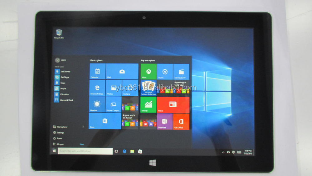 Anpassbare 10,1 zoll 1280x800 ips Windows 10 und Android 4.4 dual os intel tablet pc