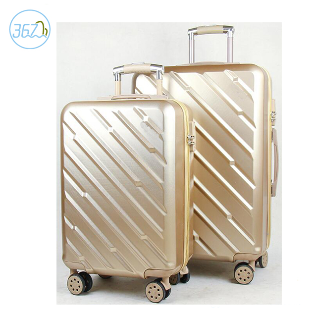 Good Quality ABS PC Travel Suitcase 2PCS Hardcase Shelly Trolley Luggage Bag with TSA
