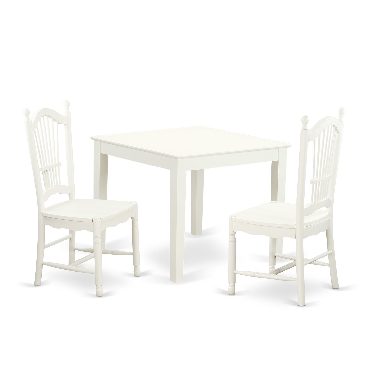 Get Quotations · East West Furniture OXDO3 LWH W 3 Piece Oxford Small  Kitchen Table And Two