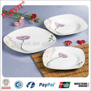 18pcs Porcelain Dinnerware New Products 2014/Tulips Decal Square Dinnerware/Stoneware Dinnerware Sets Imported to USA,Mexico