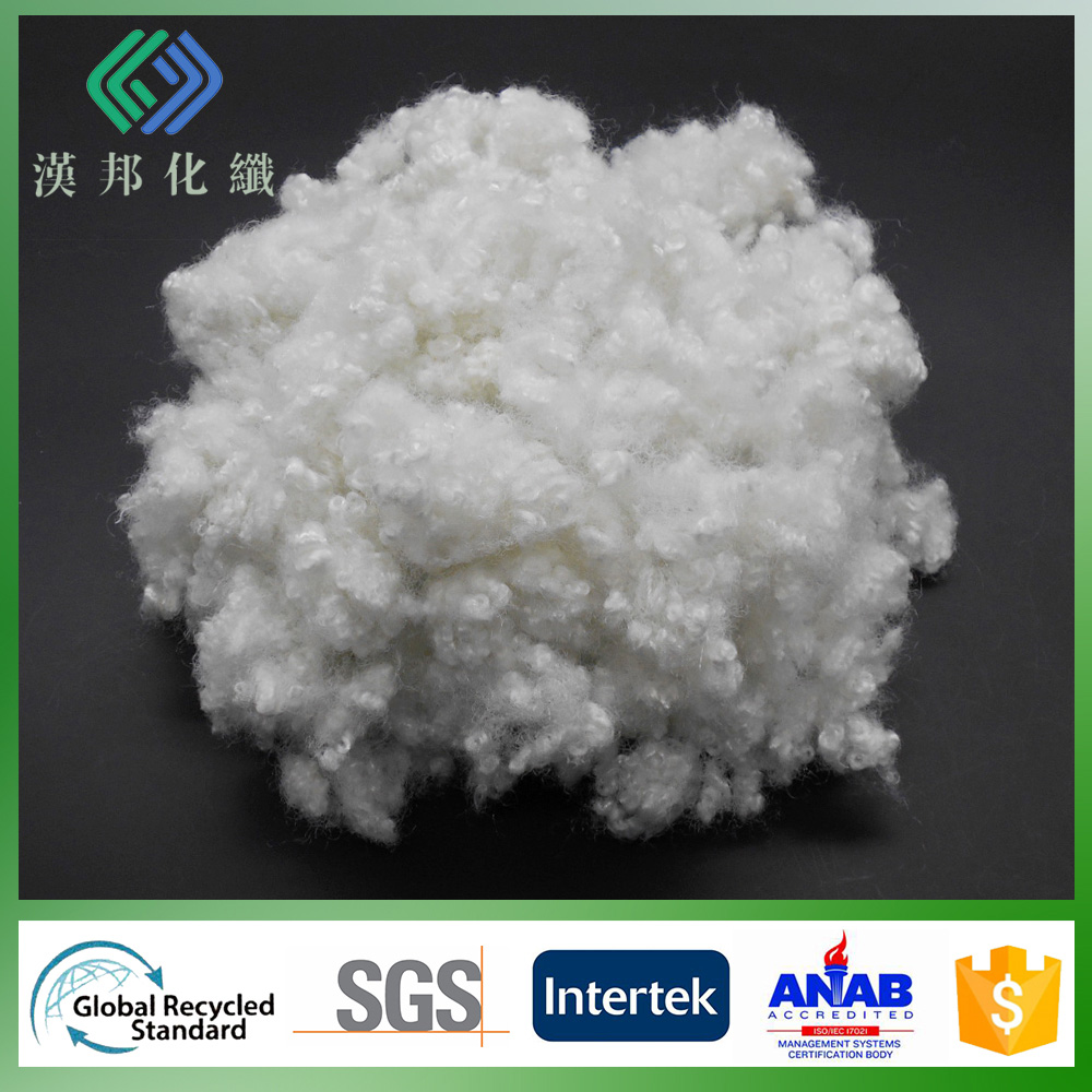 polyester fibers15Dx32mm Hollow conjugated siliconised semi virgin