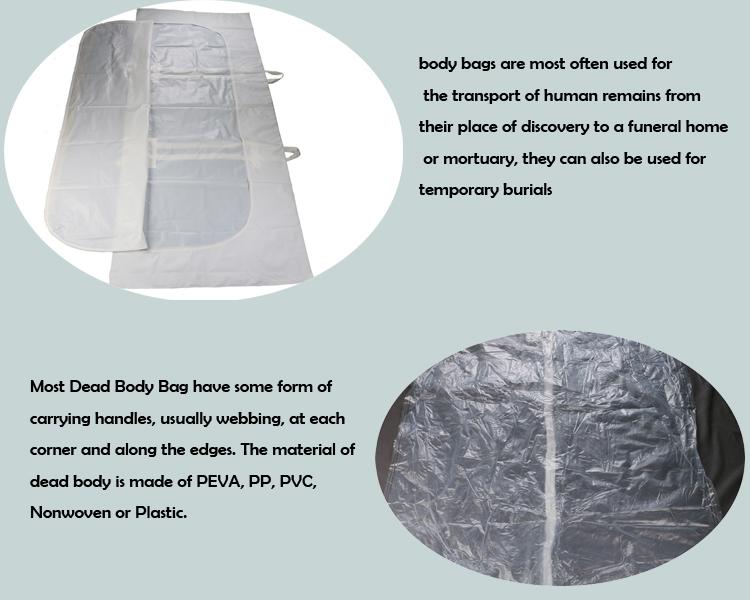 Benutzerdefinierte Einweg Orange PEVA Corpse Körper Tasche für Südafrika