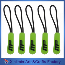 2016 fashion soft PVC/rubber/silicone custom puller competitive price zipper slider zip pullers gold