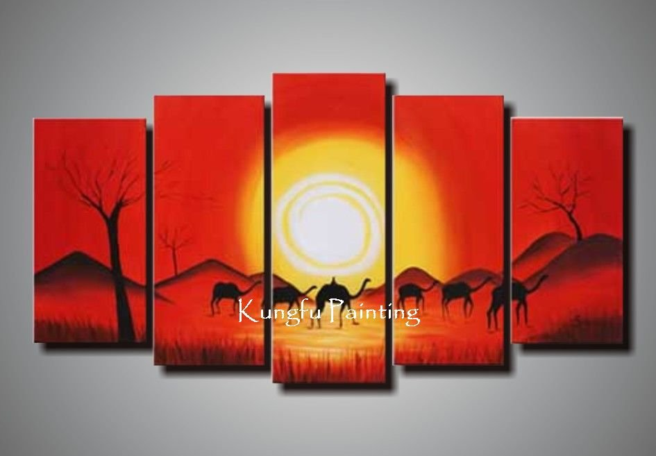 100% hand painted discount african canvas art framed wall art decoration home high quality unique gift