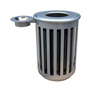 Arlau Outdoor Galvanized Steel Garbage Containers for Sale