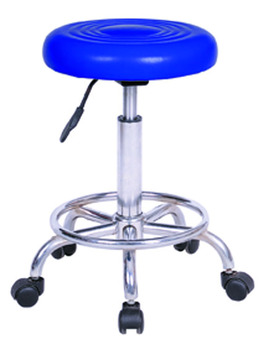 Bar Furniture Type And Synthetic Leather Chrome Material Small Sitting  Stool With Wheel   Buy Bar Stool Small Sitting Chair With Wheel,Adjustable  ...
