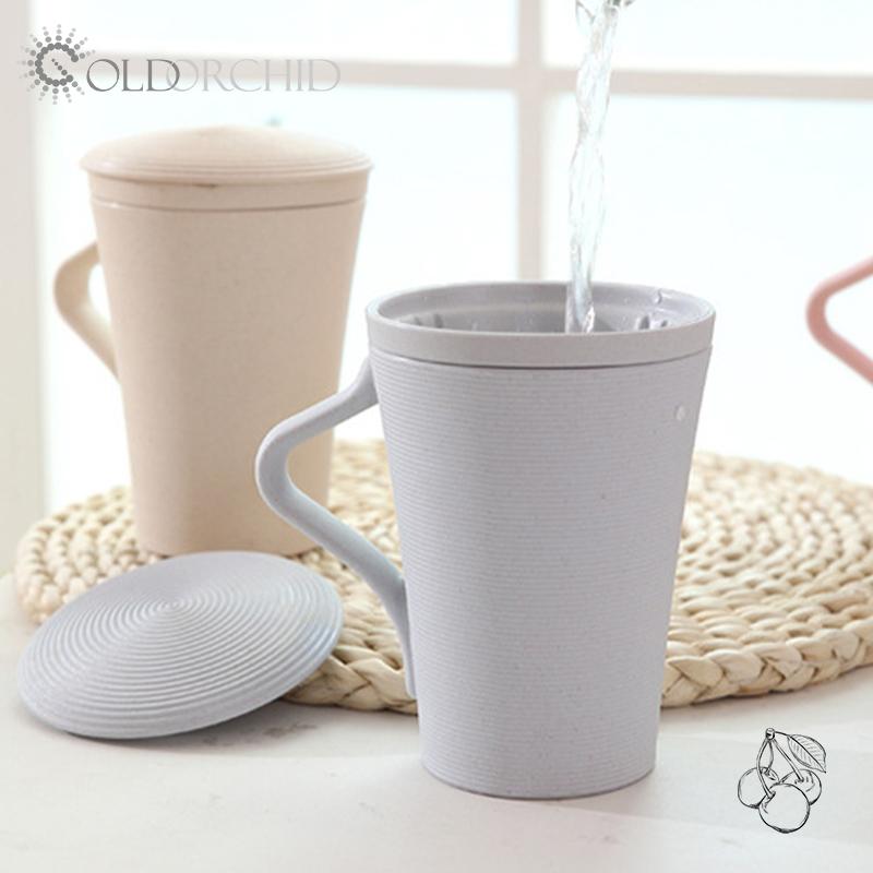 Eco-friendly Reusable kids milk bottle bamboo fiber drinking cup