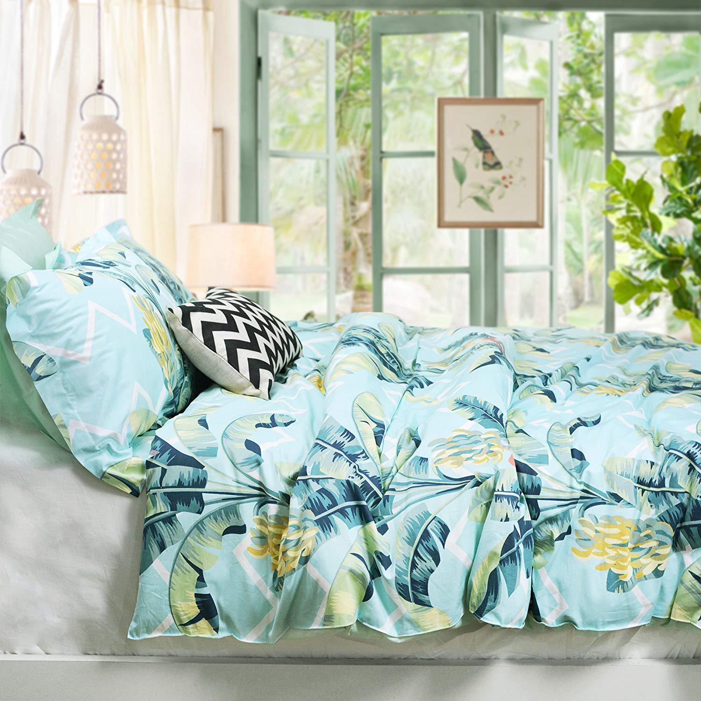 By sportstimedestiny Twin XL Dorm Room Reversible Duvet Bedding Set Soft /& Comfy 100/% Cotton Twin XL, Aqua//Black