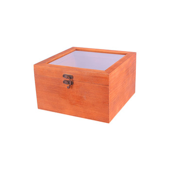 2018 high-end vintage look wooden packaging box with glass