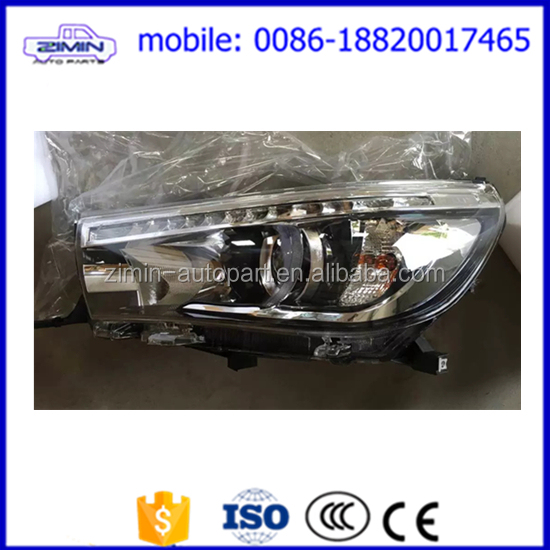 high quality factory sale led headlight for toyota hilux revo