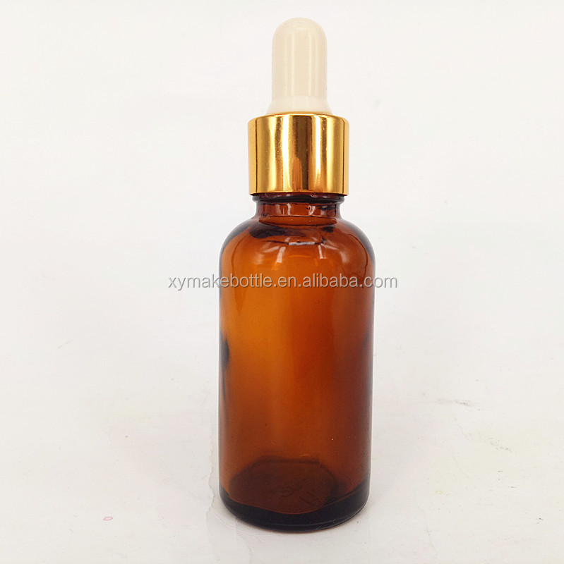 18mm neck gold aluminum dropper for amber oil bottle