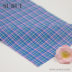 Wholesale fabric suppliers 100 cotton gingham check fabric