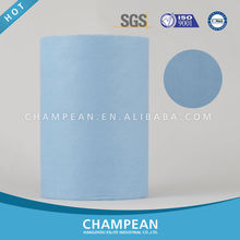 High abrasive woodpulp polyester spunlace nonwoven fabric roll