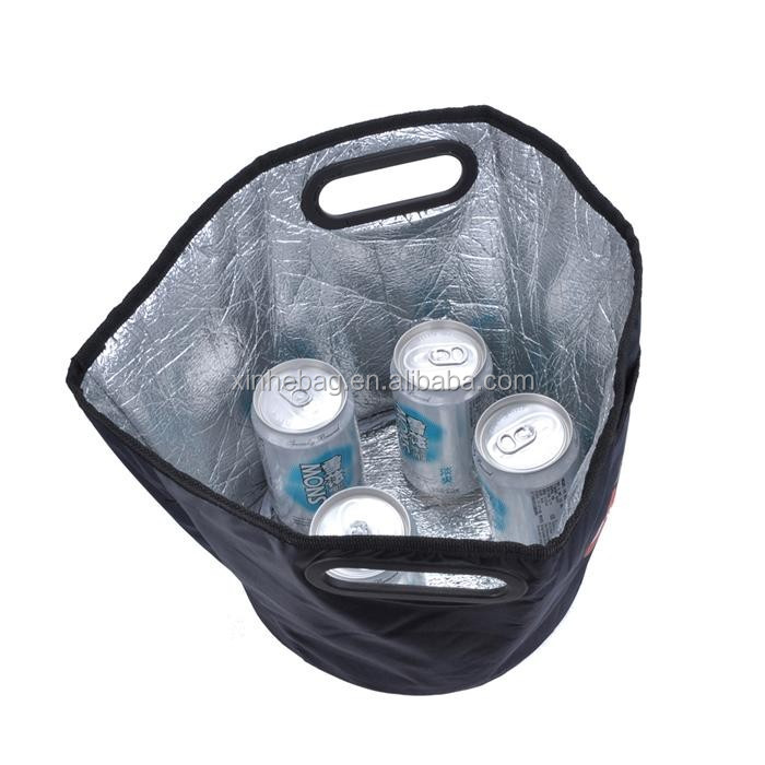 fashionable 420d large capacity round picnic cooler bag with front pocket