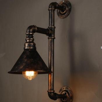Vintage Edison Wall Lamps Metal Water Pipe Sconce Warehouse Light Fixtures E27 110v 220v Bedside Lighting High Quality