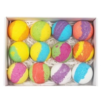 Handmade Fizzer Bath Bombs Gift Set, 12 Pack of Bath Bombs with Essential Oil, OEM/ODM Acceptable
