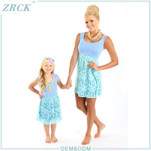 Latest lace parent-child dresses baby fashion clothes online woman garment outsourcing