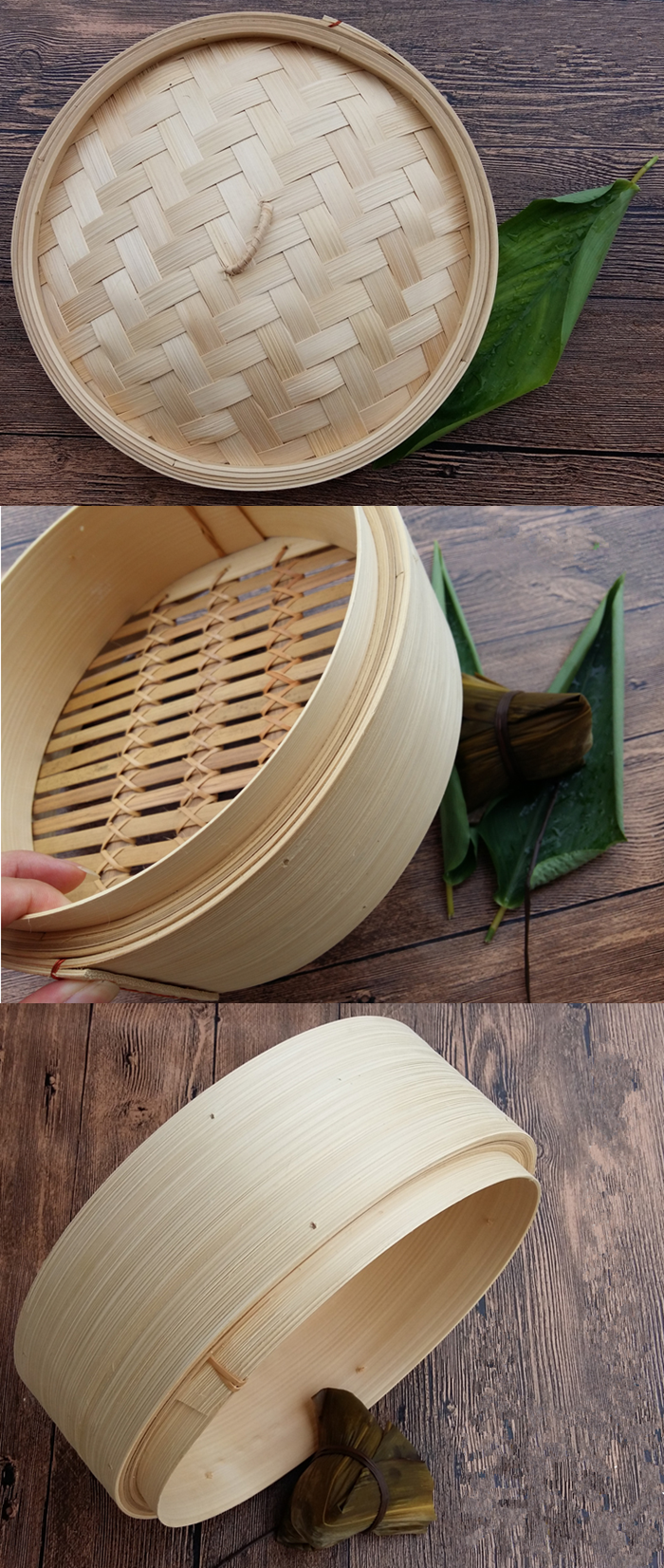 Factory price foood grade natural bamboo corn steamer