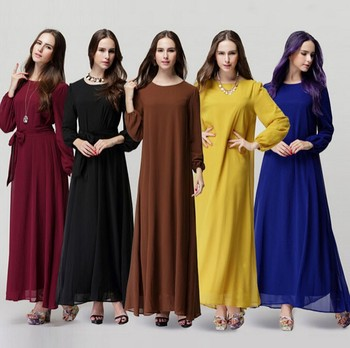 New Arrival Elegant Casual Muslim Abaya Islamic Clothing for Women