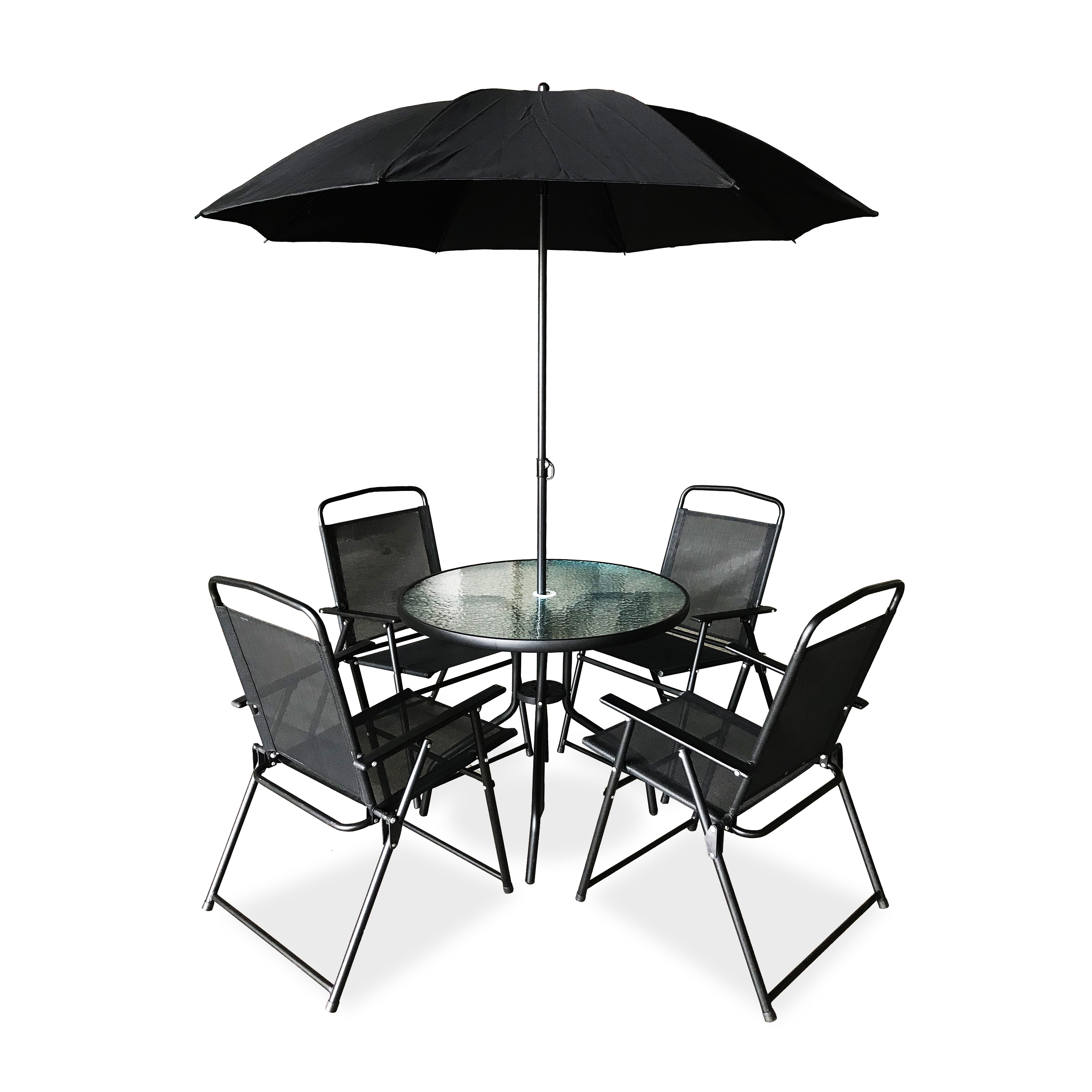 Modern Promotional Out door Dining Garden Line Textilener Outdoor Suntime Garden Patio Furniture with Umbrella
