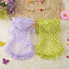 Floral Dog Summer Dress Sun-resistant Acrylic Hoodie Breathable Dog Clothes Dress