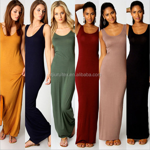 Women Summer Dress fashion Tank Top Ankle Length Long Maxi Cotton Blend Dress Ladies Celebrity Party Casual Dress