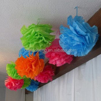8inch 20cm Tissue Paper Flowers For Curtain Wall Wedding Decoration