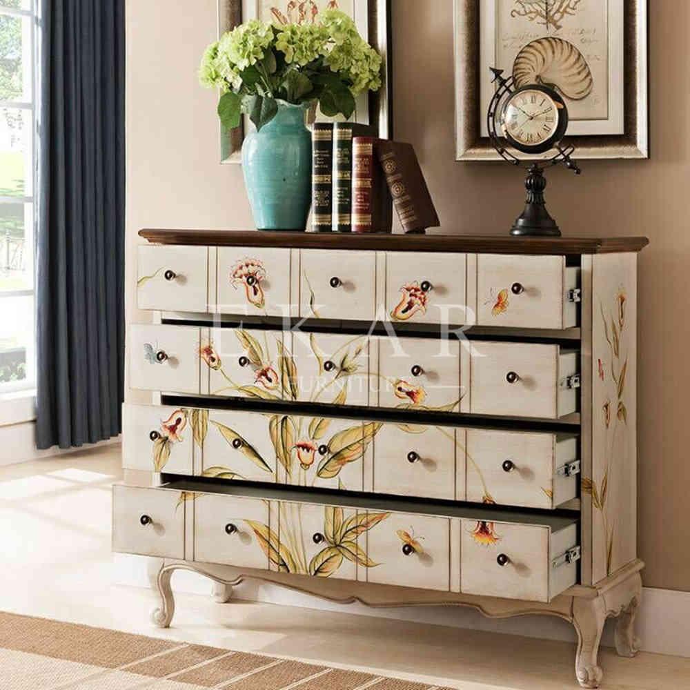 Vintage joyer a de madera del gabinete de almacenamiento for Gabinete de almacenamiento dormitorio